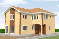 完全2世帯住宅で56坪の家