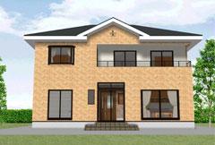 2階全室南向きでバルコニー付の46坪の家